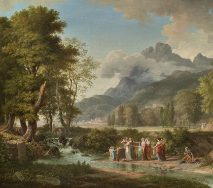 Classical Landscape with a Group of Vestals